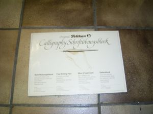 Pelikan calligraphy booklet with 29 pages