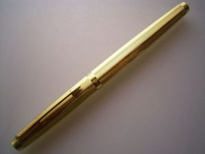 Parker 75 fountain pen, Millerais, goldplated