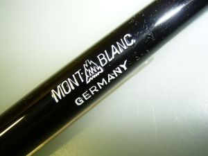 MONTBLANC #2 pencil, black, mint condition!