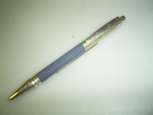 Lalex ballpoint, blue/sterling silver