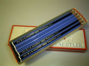 Staedtler Tradition Box with 12 blue coloured pencils