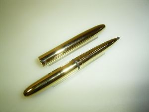 Fisher Space pen ballpoint, pocket, golden finish