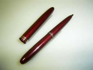 Fisher Space pen ballpoint, pocket, darkred with 2 rings