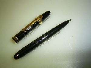 Fisher Space pen ballpoint, pocket, black with 2 rings and clip