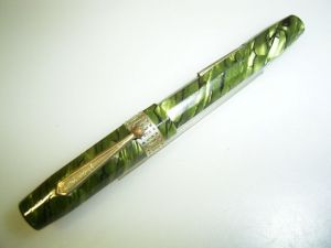 PETER PAN Patrician style pen, green marbled (2)