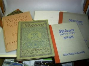 Lot of 6 very rare vintage PELIKAN price lists, eg