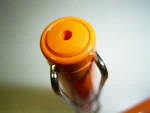 Lamy Safari fountain pen, orange, dot clip