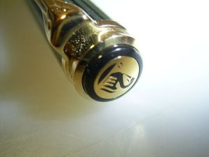 Pelikan K800 old style ballpoint, pre 1997, early goldplated logo
