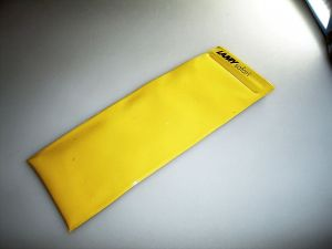 LAMY plastic case yellow, 1980`s